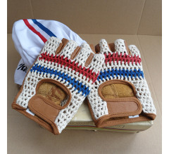 Retro Cycling fietshandschoenen zomer Nederland - Vintage style leather Cycling gloves
