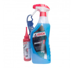 Cyclon Wet Lube 125ml  +  Bionet Triggerspray 750ml + Cassette Borstel