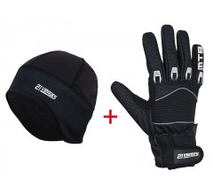 Fietshandschoen Winter Windstop MTB + Helmmuts Windprotect
