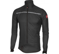 Castelli Fietsjack all weather Heren Zwart Fluo / CA Superleggera Jacket Anthracite/Yellow Fluo