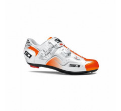 Sidi Race Fietsschoenen Wit Oranje Heren / Kaos White/Orange Fluo