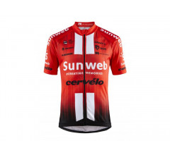 Craft Fietsshirt korte mouwen Kids Rood Wit / TEAM SUNWEB REPLICA SS JERSEY JR TEAM SUNWEB RED