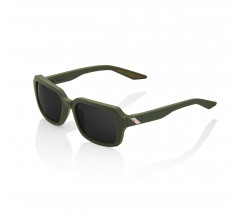 100% Fietsbril Rideley - Soft Tact Army Green - Black Mirror Lens