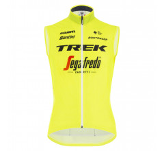 Santini Windstopper mouwloos Heren - Trek Segafredo 2021 - Fine Light Windvest Yellow Fluo