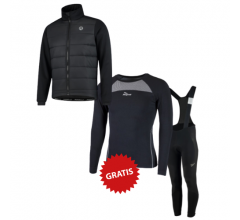 Rogelli fietskleding set winter heren Wadded Artico Zwart