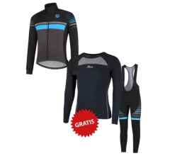 Rogelli fietskleding set winter heren Hero Blauw