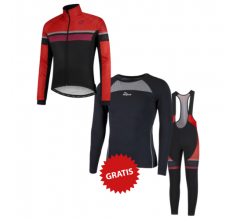 Rogelli fietskleding set winter heren Hero Rood