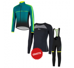 Rogelli fietskleding set winter heren Dex Fuse Fluo