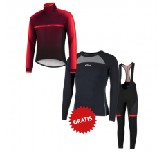 Rogelli fietskleding set winter heren Dex Fuse Rood