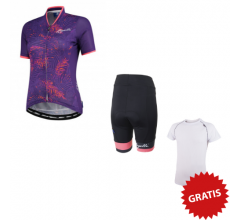 Rogelli Fietskledingset Zomer voor Dames Flora Select Paars/Coral