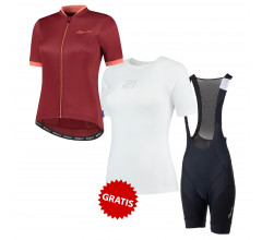 Rogelli Fietskledingset Dames Zomer - Essential Bordeaux Coral