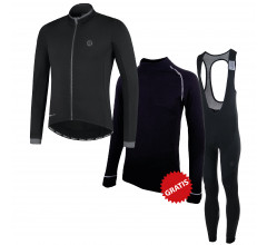 Rogelli fietskleding set winter heren Essential Focus Zwart