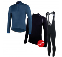 Rogelli fietskleding set winter heren Essential Focus Blauw