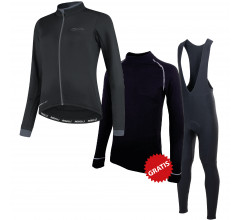 Rogelli fietskledingset winter dames Essential Collant Neo Zwart