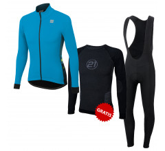 Sportful Fietskledingset Winter Heren Neo Softshell Jacket blue Atomic Black Criterium
