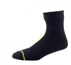 SealSkinz Road Ankle with Hydrostop / Fietssok Zwart illuminous