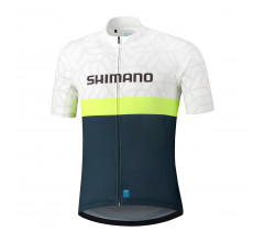 Shimano Shirt Team Wit/Navy Heren