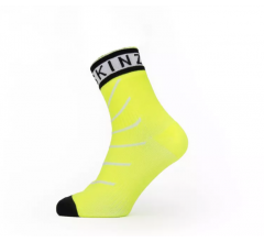 Sealskinz Fietssokken Waterdicht Unisex Fluo Zwart - Waterproof Warm Weather Ankle Length Sock with Hydrostop Neon Yellow Black White