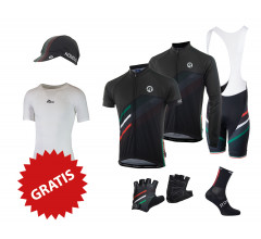Rogelli fietskleding set Team 2.0 zwart