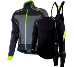 Rogelli Winterset Geel Winterjack Trani 3.0 Bibtight Travo 2.0 en 21VIRAGES ZWEETHEMD DENO