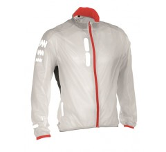 Wowow Ultralight Supersafe White/Red Edition / Wind/Regenjack wit/rood