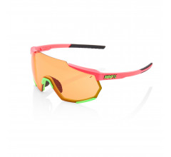 100% Fietsbril Racetrap - Matte Washed Out Neon Pink - Persimmon Lens