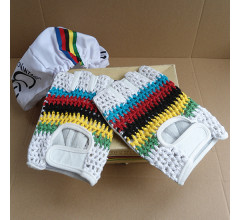 Retro Cycling fietshandschoenen zomer Worldcup - Vintage style leather Cycling gloves