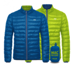 Mac in a Sac Donsjas Heren Blauw Lime / Polar down jkt elec blue / lime