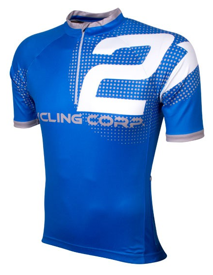 Wielershirt 21 Virages Cycling Corp blauw